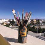 Pintando un paisaje -Selma Fernández - Sevilla